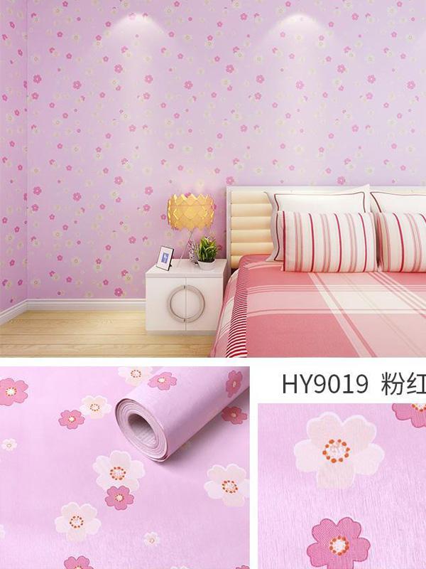 Hình ảnh Decal dán tường hoa màu hồng 9019