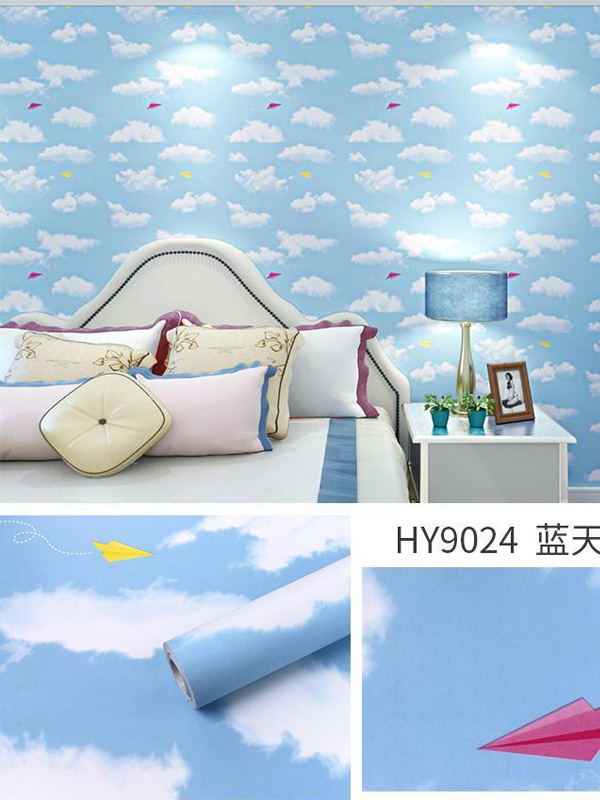 Hình ảnh Decal dán tường mây 9024 có keo sẵn
