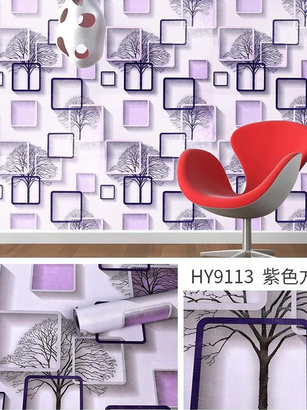 Hình ảnh Decal dán tường 3D ô vuông 9113