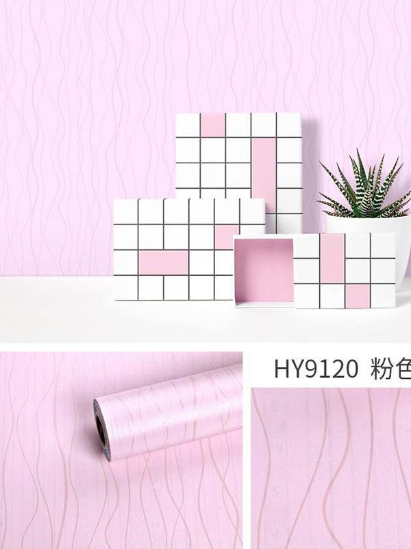 Hình ảnh Decal dán tường sọc đứng màu hồng 9120