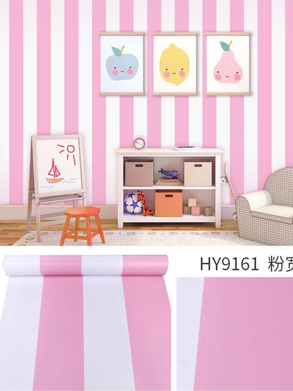 Hình ảnh Đề can dán tường sọc đứng màu hồng 9161