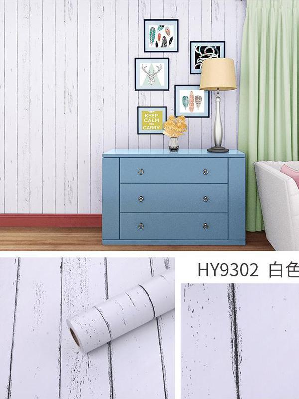 Hình ảnh Đề can dán tường giả gỗ trắng 9302