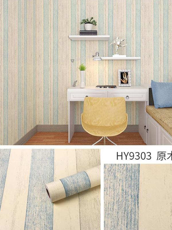 Hình ảnh Đề can dán tường giả gỗ sọc xanh 9303