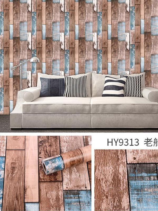 Hình ảnh Đề can dán tường giả gỗ sọc 9313