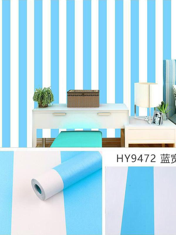 Hình ảnh Đề can dán tường sọc xanh dương 9472