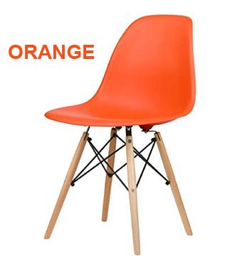 Hình ảnh Ghế nhựa chân gỗ màu cam