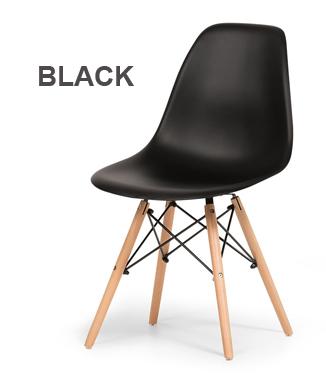 Hình ảnh Ghế nhựa chân gỗ màu đen
