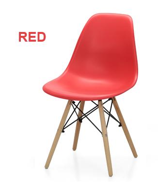 Hình ảnh Ghế nhựa chân gỗ màu đỏ