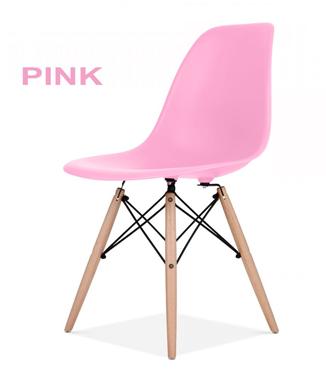 Hình ảnh Ghế nhựa chân gỗ màu hồng