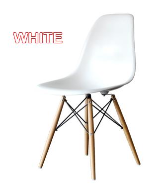 Hình ảnh Ghế nhựa chân gỗ màu trắng