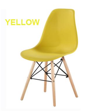 Hình ảnh Ghế nhựa chân gỗ màu vàng