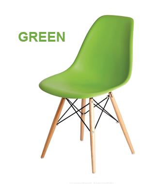 Hình ảnh Ghế nhựa chân gỗ màu xanh lá