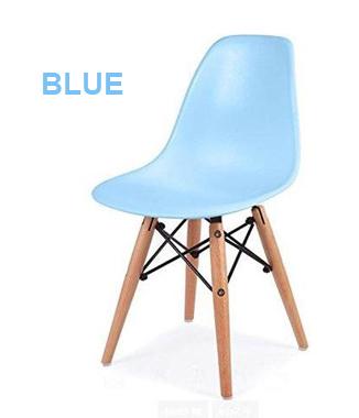 Hình ảnh Ghế nhựa chân gỗ màu xanh