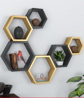Hình ảnh Combo 2 bộ lục giác tổ ong treo tường