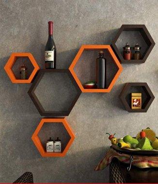 Hình ảnh Combo 2 bộ kệ tổ ong lục giác