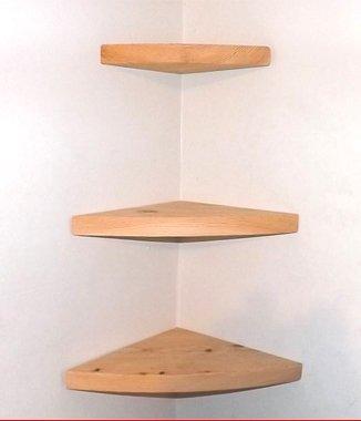 Hình ảnh Kệ góc 90 gỗ tự nhiên treo tường