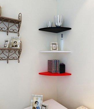 Hình ảnh Kệ góc treo tường bằng gỗ