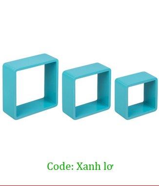 Hình ảnh Kệ treo tường 3TC màu xanh lơ