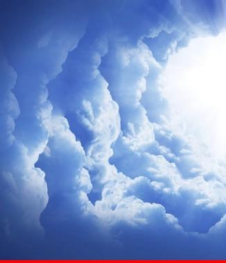 Hình ảnh Tranh dán tường bầu trời CL027