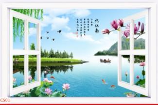 Hình ảnh Tranh dán tường cửa sổ CS01