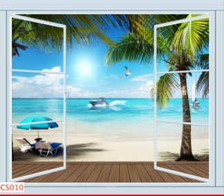 Hình ảnh Tranh dán tường cửa sổ CS010