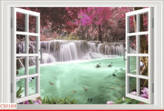 Hình ảnh Tranh dán tường cửa sổ CS0100