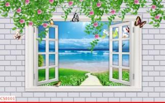 Hình ảnh Tranh dán tường cửa sổ CS0101