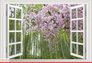 Hình ảnh Tranh dán tường cửa sổ CS0103