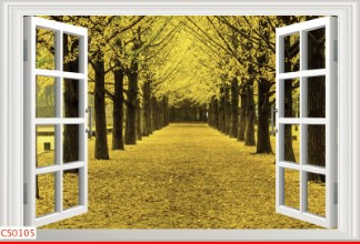 Hình ảnh Tranh dán tường cửa sổ CS0105