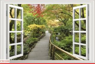 Hình ảnh Tranh dán tường cửa sổ CS0106