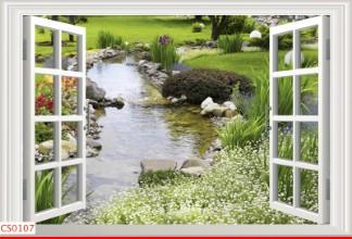 Hình ảnh Tranh dán tường cửa sổ CS0107