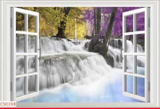 Hình ảnh Tranh dán tường cửa sổ CS0108