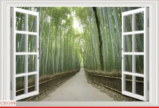 Hình ảnh Tranh dán tường cửa sổ CS0109