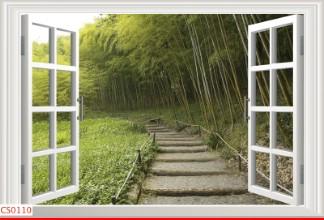 Hình ảnh Tranh dán tường cửa sổ CS0110