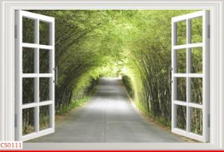 Hình ảnh Tranh dán tường cửa sổ CS0111