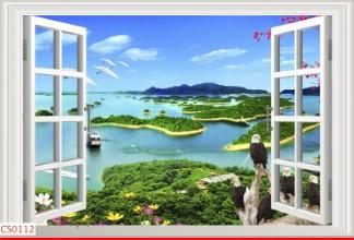 Hình ảnh Tranh dán tường cửa sổ CS0112