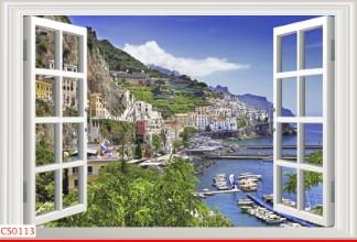 Hình ảnh Tranh dán tường cửa sổ CS0113