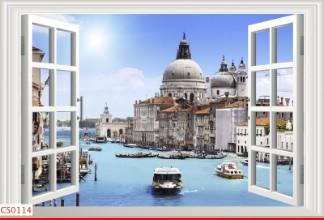Hình ảnh Tranh dán tường cửa sổ CS0114