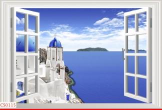 Hình ảnh Tranh dán tường cửa sổ CS0115