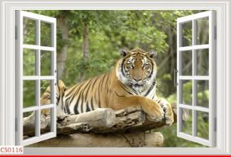 Hình ảnh Tranh dán tường cửa sổ CS0116