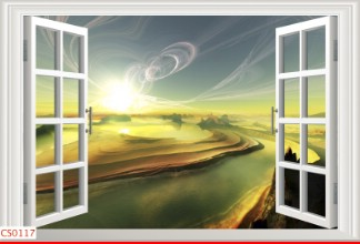 Hình ảnh Tranh dán tường cửa sổ CS0117