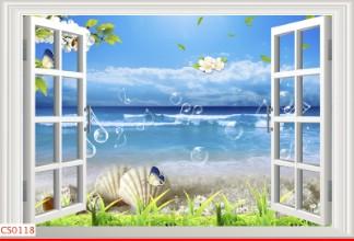 Hình ảnh Tranh dán tường cửa sổ CS0118