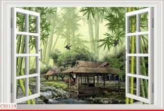 Hình ảnh Tranh dán tường cửa sổ CS0119