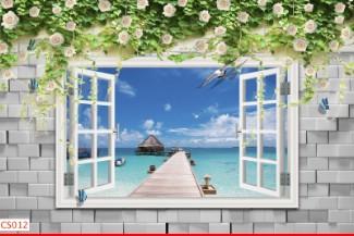 Hình ảnh Tranh dán tường cửa sổ CS012