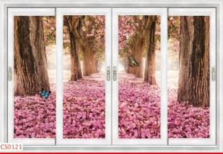 Hình ảnh Tranh dán tường cửa sổ CS0121