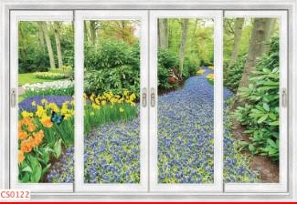 Hình ảnh Tranh dán tường cửa sổ CS0122