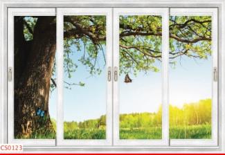 Hình ảnh Tranh dán tường cửa sổ CS0123
