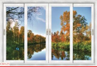 Hình ảnh Tranh dán tường cửa sổ CS0125