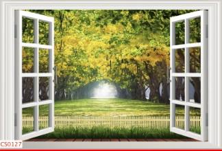Hình ảnh Tranh dán tường cửa sổ CS0127