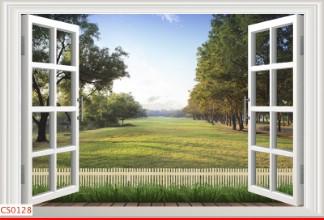 Hình ảnh Tranh dán tường cửa sổ CS0128